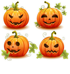 Pumpkin set for halloween vector