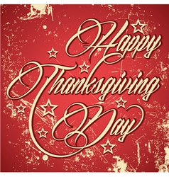 Retro design for Happy Thanksgiving Day vector image