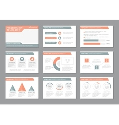 Set of pink and gray template for multipurpose vector