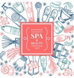 spa salon background pictures different natural vector image vector image