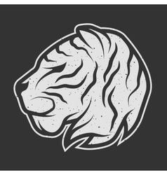 Tiger symbol logo for dark background vector image