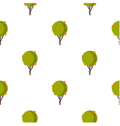 Tree with fruit pattern flat vector