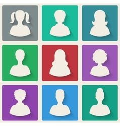 woman avatar icons vector image vector image