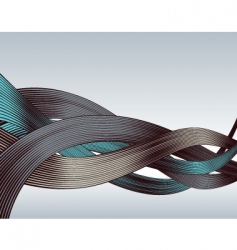 woodcut ribbons vector image