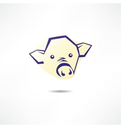 Pig face logo vector
