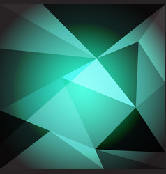 low poly design element on green gradient vector image