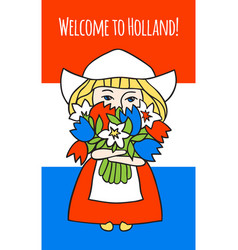 Welcome to holland vector