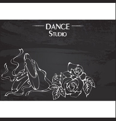 Dance line chalk pointe vector