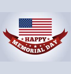 Happy memorial day concept vector
