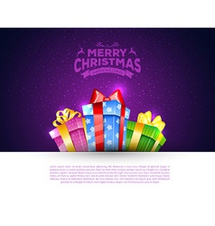Colorful gift boxes with bows vector