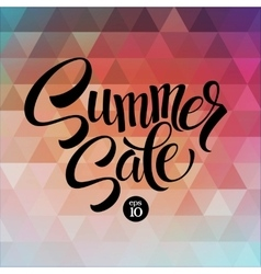 Summer sale the triangular pattern vector