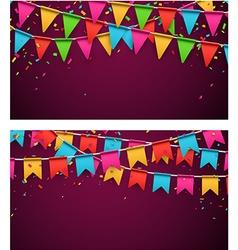 Party celebration backgrounds vector image