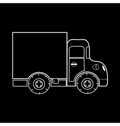Mini truck for transportation of small loads vector