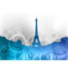 Eiffel tower on the blue abstract background vector
