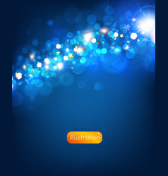 Elegant Christmas Background in Blue vector image