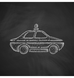 Police car icon vector