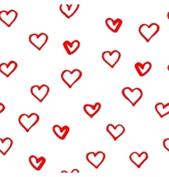 Hand darwn pattern with hearts vector