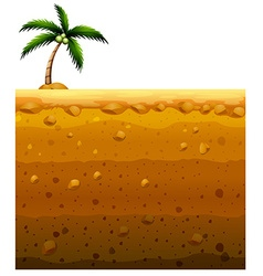 Seamless underground and coconut tree vector