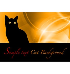 cat black background vector image