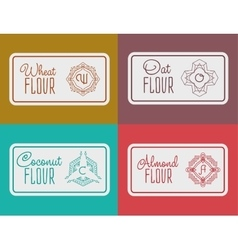 Label for flour packaging vector