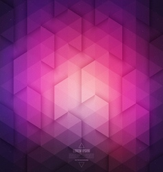 Abstract geometric technological purple background vector