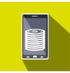 Money online from smart phone isolated icon design vector
