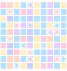 Abstract geometric seamless pattern with colorful vector image