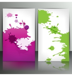 Banner with splash on abstract background vector image vector image