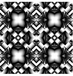 Black and white seamless metal pattern vector