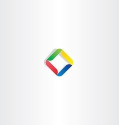 business abstract logo square colorful icon vector image
