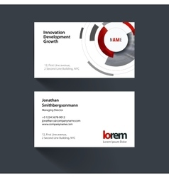 Business card template with particles vector