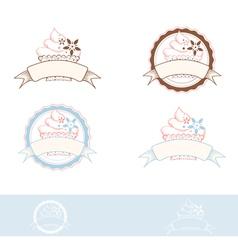 Cake emblem vector