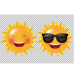 cartoon sun collection vector image