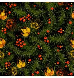 dark floral seamless pattern vector image