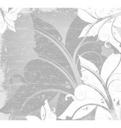 floral with grunge background vector image