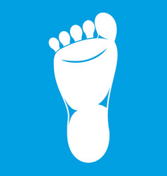 Foot left leg icon white vector