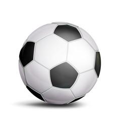 football ball sport game symbol realistic vector image vector image