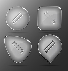 Hacksaw glass buttons vector