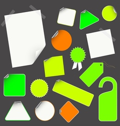 icon stick set vector image