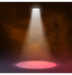 Lantern spotlight illuminates wooden scene red vector image vector image