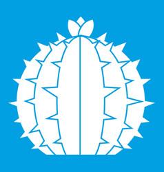 Lophophora cactus icon white vector