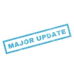 Major update rubber stamp vector