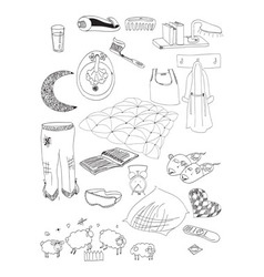 objects on a dream vector image