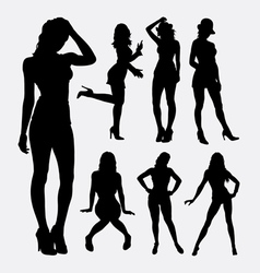 People sexy female silhouette vector image vector image