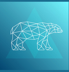 polar bear side view geometric style vector image vector image