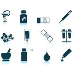 Set of farmacy icons vector