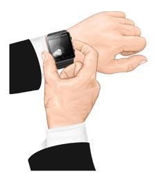 Smart watch gesture vector image
