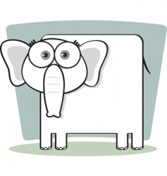 square animal elephant vector image vector image