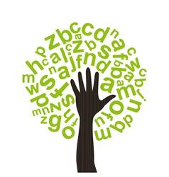 Tree the alphabet vector