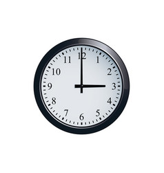 Wall clock set at 3 o clock vector